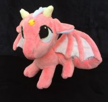 Custom Pendragon plush Dragon Coral pink by angelberries