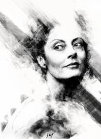 Fan Art Portrait - Susan Sarandon by Fielderscenes