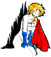 quick power girl sketch by thanoodles