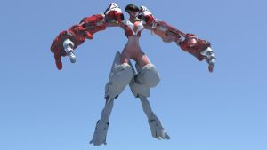 Female Cyborg Mech UPDATE2 (WIP) by MikeBourbeauArt