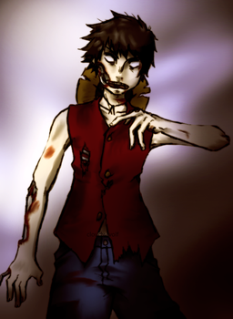 Zombie Luffy by Cloudy-wolf