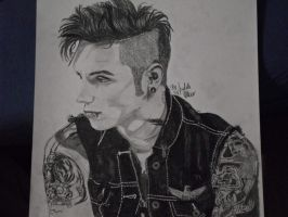 Andy Biersack black and white by xxdaswarwohlnix