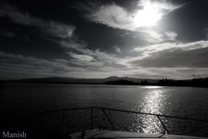 Black and White Shot of Lake Rotorua by VisionThroughTheLENS
