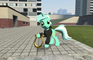 Lyra (Background Pony), with Lyre [Garry's Mod] by Mwr247