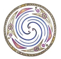 Celestial Triple Spiral by Spiralpathdesigns