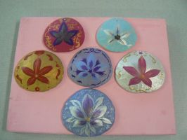 New Batch Of Sand Dollars - Just Painted by Ila-Mae