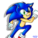 Running Sonic by Catalwi