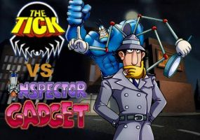 The Tick vs Inspector Gadget by LordKrogoth