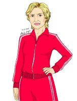 Glee Cartoons- Sue Sylvester by pokopoko14