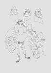 Hellboy Character Sheet for Sean Galloway contest by 1sparkki