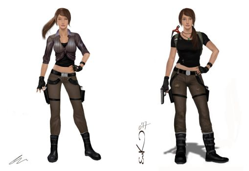 Lara Croft Comparisson (2011-2017) by MrRabLo