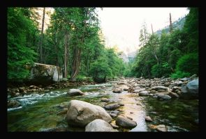 Mountain Stream by Captain-Planet