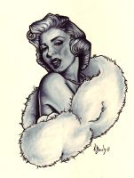 Marilyn Monroe by BlueUndine