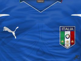 Italy Home shirt WC 2010 by P3P70
