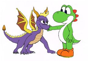 Spyro and Yoshi : Mid December 2012 by AlexYo63