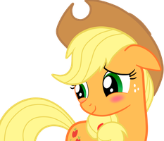 Applejack Blushed by CawinEMD