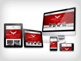 Responsive web design  for a company by NightworldDesign