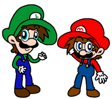 The Super Mario Bros by Bomberdrawer