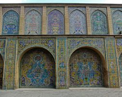 Persian Architecture 08 - Tiled Wall by fuguestock