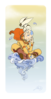 :AT: Avatar - Aang and Momo by theZeo