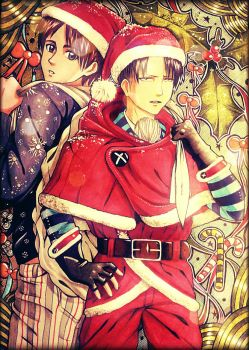 Attack on Christmas.  by LeviHeichou156