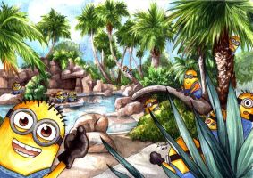 Minion Pool Party by eikomakimachi