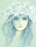 green and white lady by sliiva