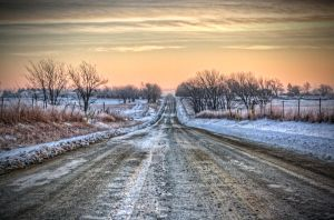 Frozen Country Morning by cassaw-creative