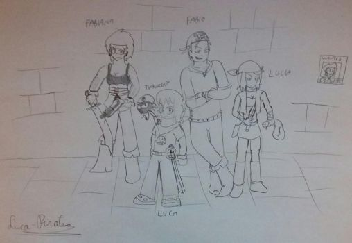 Luca and his family by Luca-pirate