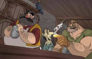 Tavern Scene from Accursed by borogove13