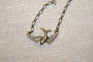 Swooping Bird Necklace by MonsterBrandCrafts