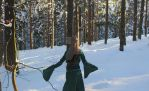 Coat for forest elven lady by elweth-silvan-elf