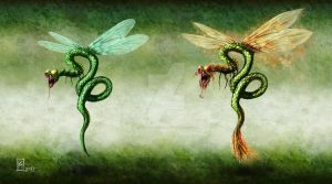Serpent Fly/Dragon Fly by Kobaltmaster
