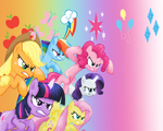 MLP: Mane 6 Wallpaper by Togekisspika35