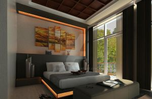 Green Cove BSD interior_master bedroom 02 by vaD-Endz