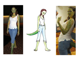 female Killer Croc costume by vampirate777