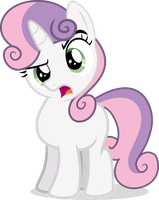 NATG Day 1 - Shocked Sweetie Belle (Pony Standing) by Eagle1Division