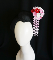 Ume Plum Blossom Kanzashi with Shidare 211 by japanesesilkflowers