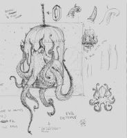 Octopus Sketch by rafajija