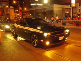 The Big Black Challenger At Yonge And Dundas by Neville6000