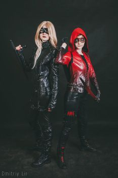 Speedy and Black Canary, Panic and KOMMIX 2016 by Shiera13