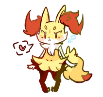 pokemon boyfriend braixen by mushuroom