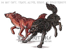 Radoslav And Corina Wolves by WildSpiritWolf