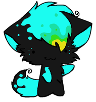 Neon Cat Adopt (3 Points) (CLOSED) by Firestar999