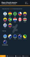 Flags of South America - Flat Icons by BlinVarfi