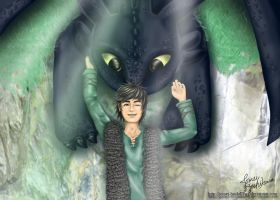 Hiccup and Toothless by jomei-hoshikawa