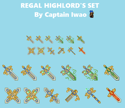 Regal Highlord's Weapon Set by CaptainIwao