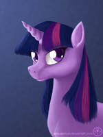 Portrait of Twilight Sparkle by Adalbertus