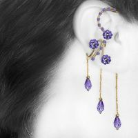 Purple ear wrap and cuff set v15- SOLD by YouniquelyChic