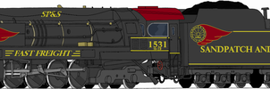 Sandpatch and Southern M-2 2-8-4 Redraw by Engine97